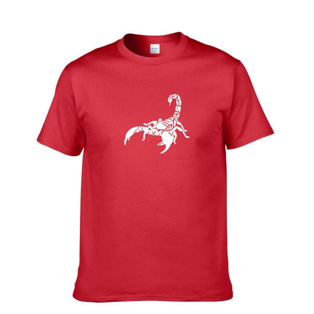 Lettera Scorpion Tops Comic manica corta unisex disegno di stampa T-shirt Tees Mens T Shirt in cotone 100% Abbigliamento Homme
