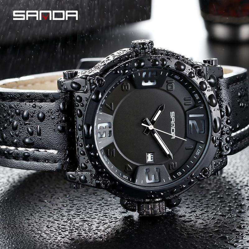High-End New European and American Retro Belt Watch Mens Quartz Watch Sports Student Watch Korean Fashion Waterproof Mens