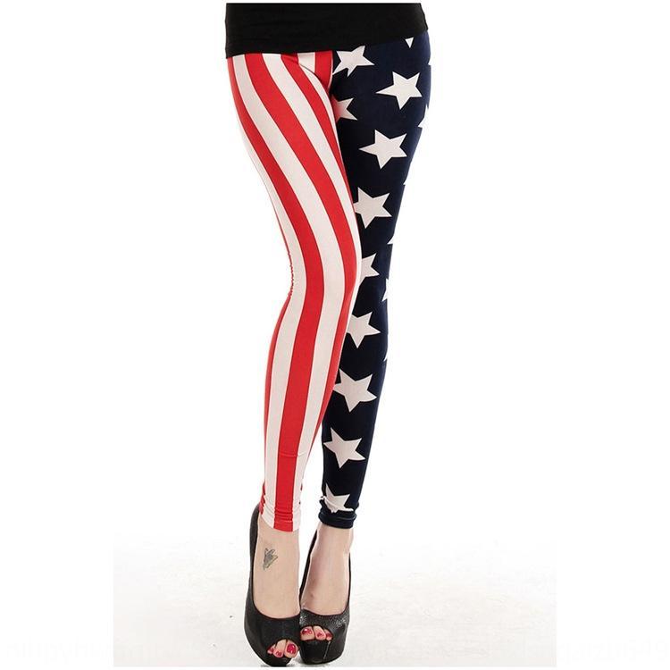 Summer new leggings printed tight Trousers tight pants American Flag British female slim ankle-length pants