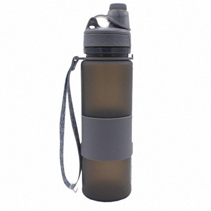 Garrafa de 500ml dobrável água com alça de mão, à prova de fugas torção Cap, BPA KLZZ #