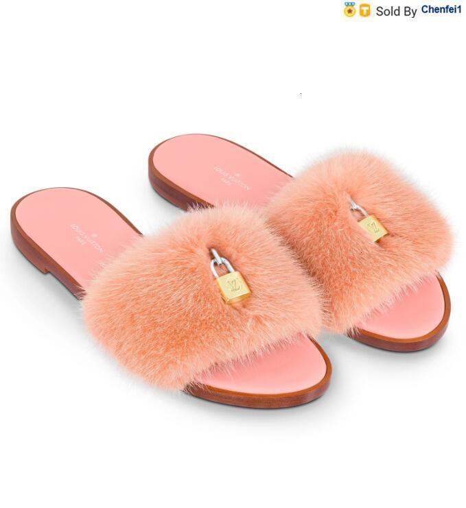 chenfei1 1JNT 1A43QK bloqueá-lo LISA MULE MODA PINK Chinelos Mulheres Casual Walking Handmade Tênis Sandálias Chinelos mulas Slides Thongs