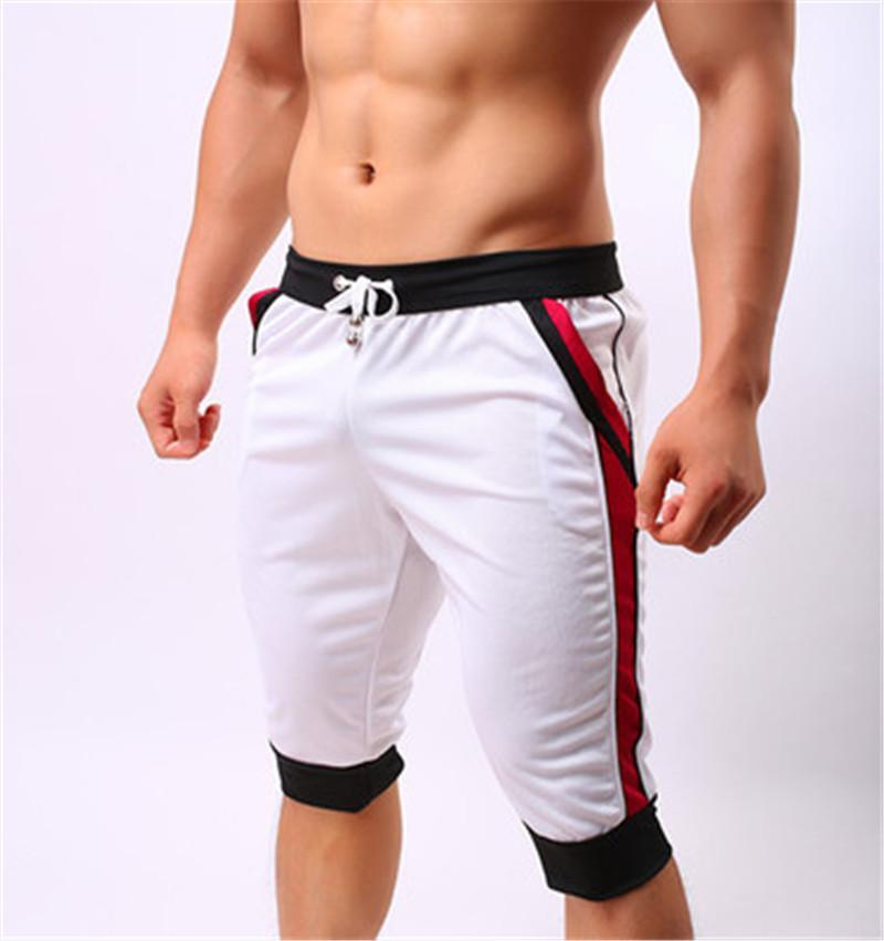 Swimsuit Running Gym Trunks Slim Swim Pants Men Swimwear Sweatpants Solid Beach Wear Shorts Men Casual Fashion Swimming Short