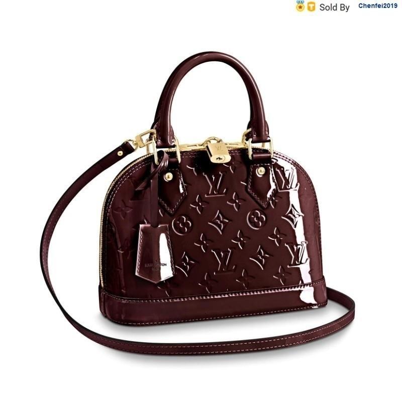 chenfei2019 17B0 Classic Alma Bb Patent Fuchsia, Messenger Bag M91678 Grape Purple Totes Handbags Shoulder Bags Backpacks Wallets Purse