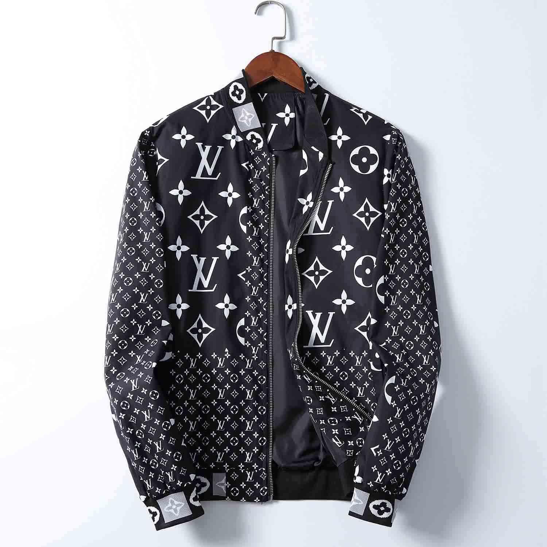 Marka erkek ceketi Bermuda Avrupa hip-hop gelgit marka uzun kollu ceket sonbahar ve kış yeni moda V yaka lüks elbise baskılı
