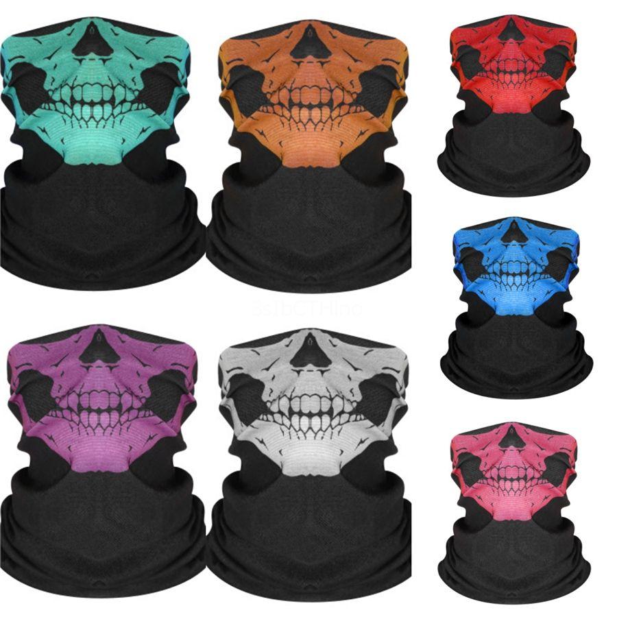 JKmzn Gridskull Eşarp Sorunsuz yönlü Sihirli Kafatası Kafatası Eşarp Yüz Bisiklet Açık Binme Maskeler atkısı Cadılar Bayramı kostüm # 62 Isınma Maske