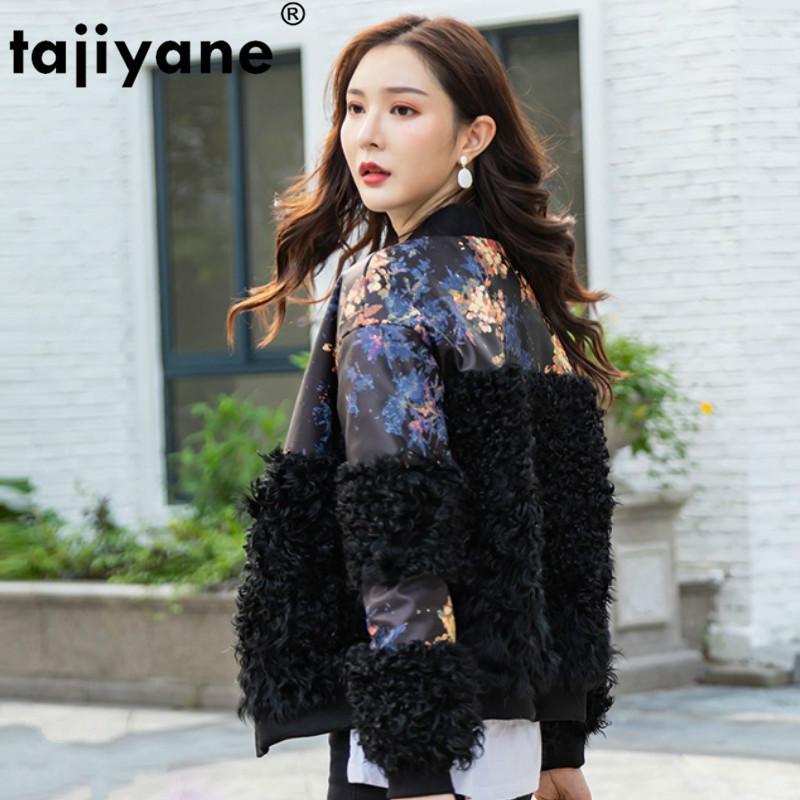 Gerçek Kürk Bayan Gerçek Deri Yün Ceket Sonbahar Kış Koyun Derisi Aşağı Coat Kadınlar Giyim 2020 Kore Vintage ZT4093 Tops