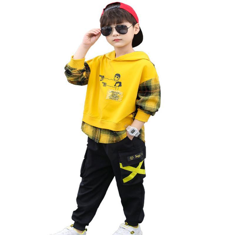 Jungen-Kleidung Set Kinder Kleidung für Kinder Outfit Boy Sport-Sets Kleinkind-Winter-Kleidung Teen 2ST T-Shirt + Pants Big Size 10 12 2020