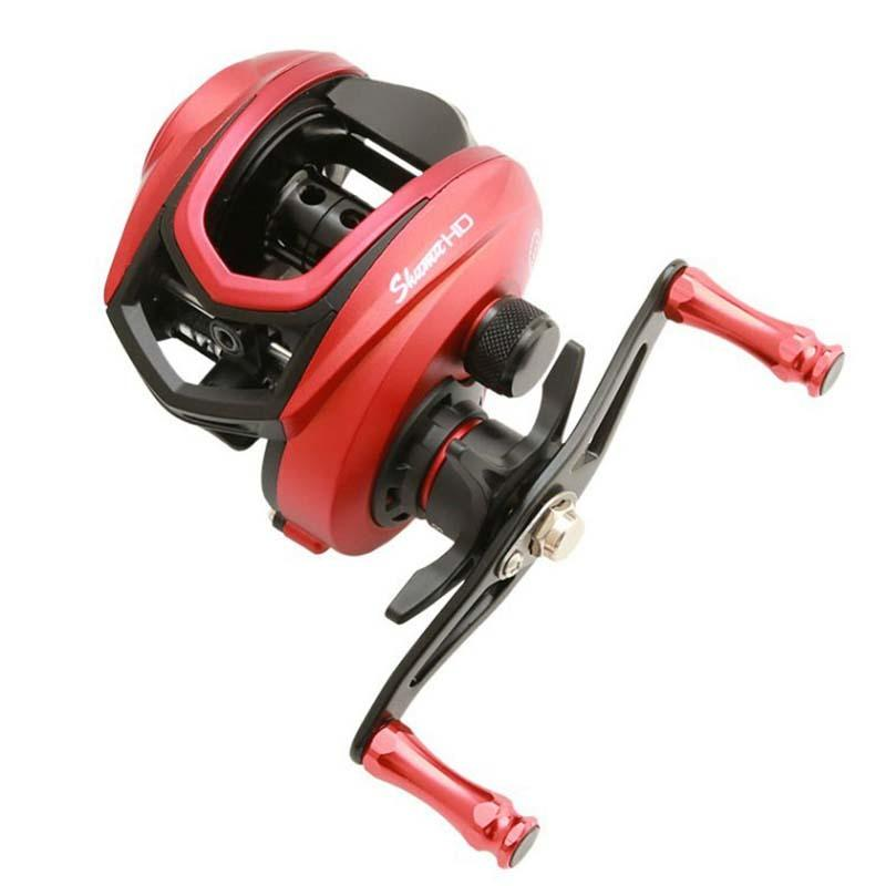 2020 neue Qualitäts-High-Speed-Verhältnis 8,1: 1 Angelrolle Carbon-Shell 230g Max Drag 8KG Baitcastingrolle Casting Reel