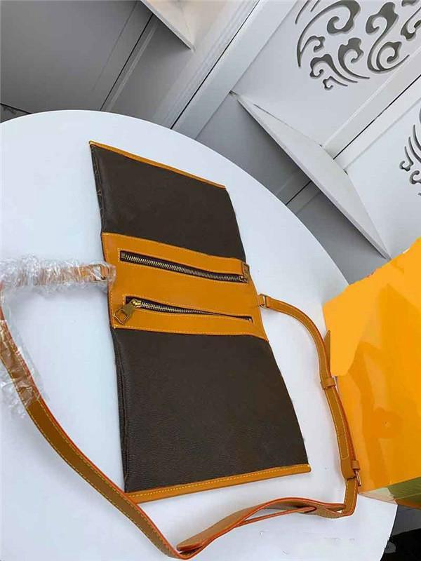 Moda bolsa de cartero dos colores compuesta de dos bolsos cremallera conectados por montañismo ganchos de estilo en el lado Puede ser utilizado como una cartera