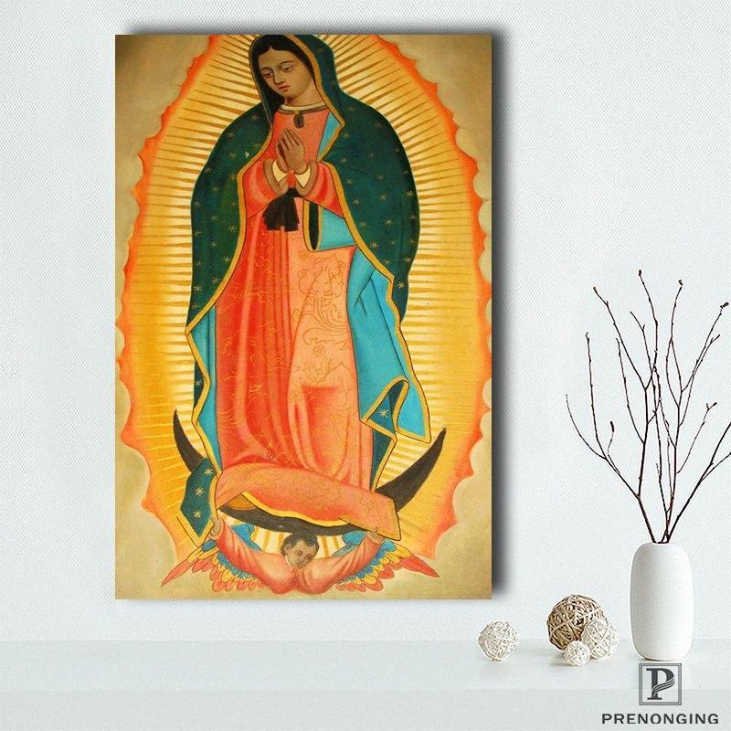 Canvas Poster tessuto di seta NOSTRA SIGNORA DI GUADALUPE POSTER Vergine Maria Cattolica di stampa Home Decor # 190114s04 bxIA #