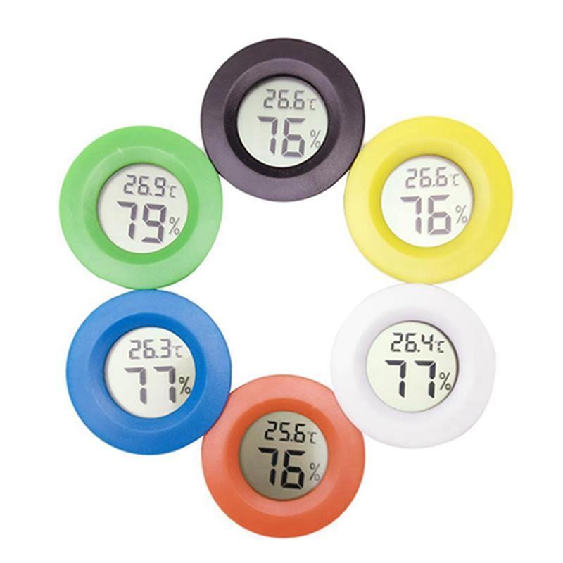 Mini-Thermometer-Hygrometer Tragbarer LCD-Digital-Thermometer Kühlschrank Gefrierschrank Tester Temperatur-Feuchtigkeits-Monitor-Meter-Detektor IIA283