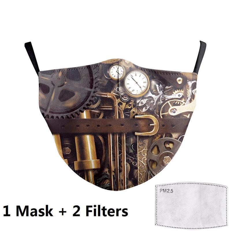 Rosto Big Impressão Adulto Anti Tecido Máscaras Unicorn cobrir a boca reutilizável Proteção Poeira 31L5