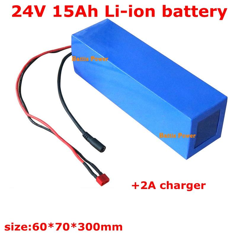 350w elektrikli bisiklet bateria + 2A şarj litio için 24v 15Ah lityum iyon pil paketi şarj edilebilir li fiş XT60