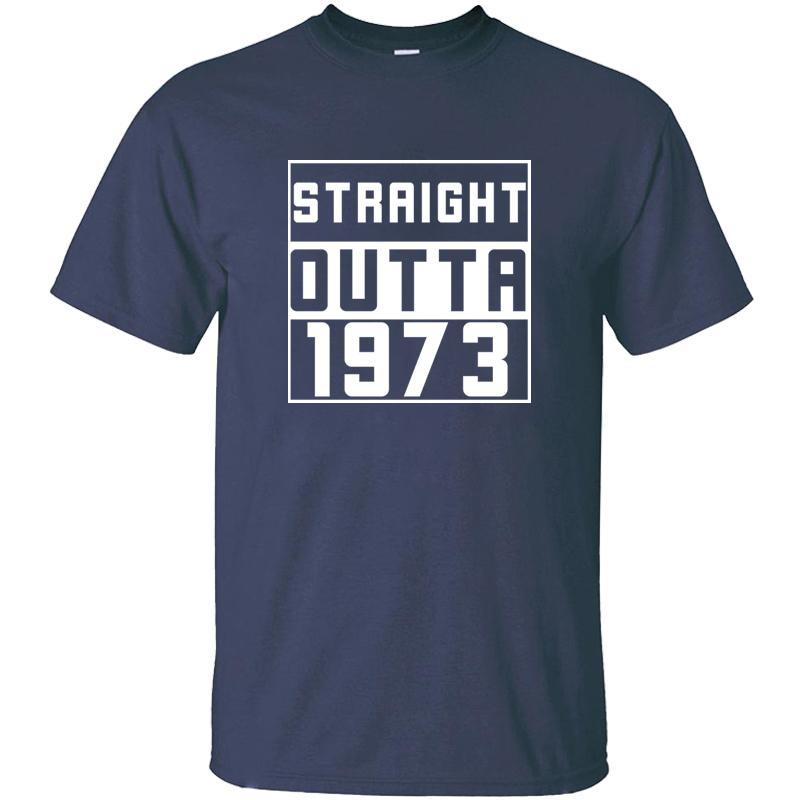Verrücktes Straight Outta 1973-T-Shirt Mann Klassische Kleidung Harajuku-Erwachsen-T-Shirts 2019 Aufmaß S-5xl High Quality