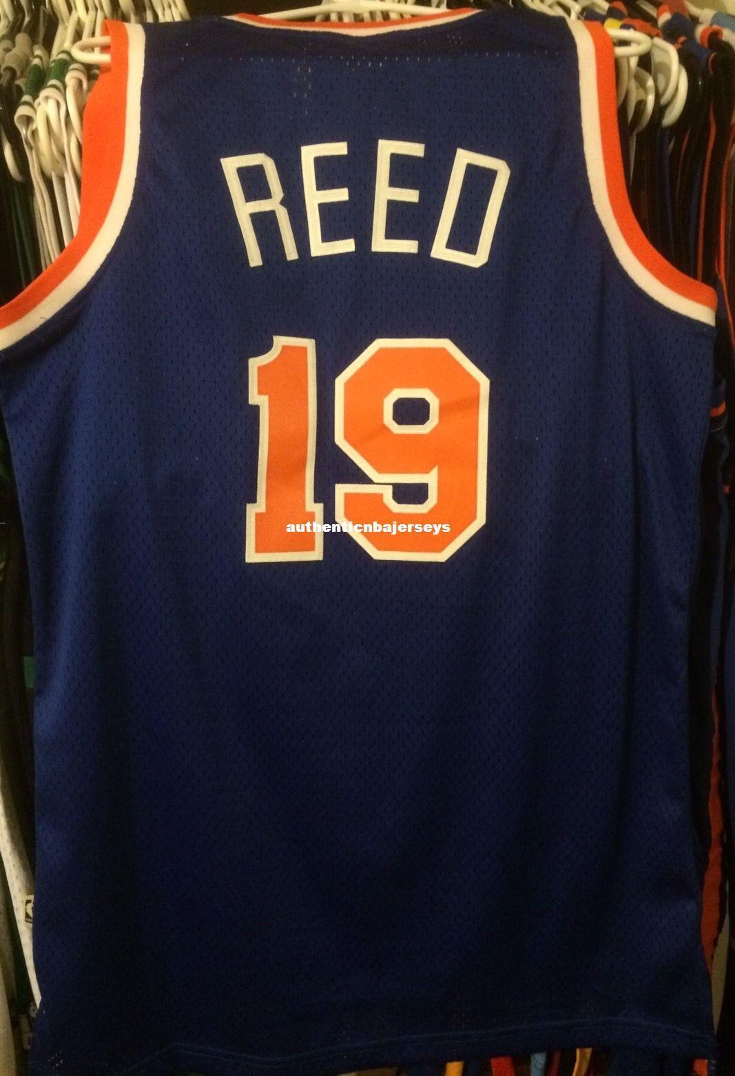 Dikişli Basketbol formaları NCAA yelek ucuz toptan Willis Reed 19 # AD Jersey Men Nadir Dikişli Carmelo tişört