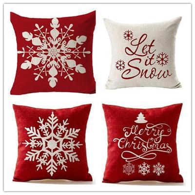 45 * 45cm di Natale del fiocco di neve Cuscino Capodanno Natale creativo divano federa Ufficio cuscini cuscino del caso 5 stili EEA907-10