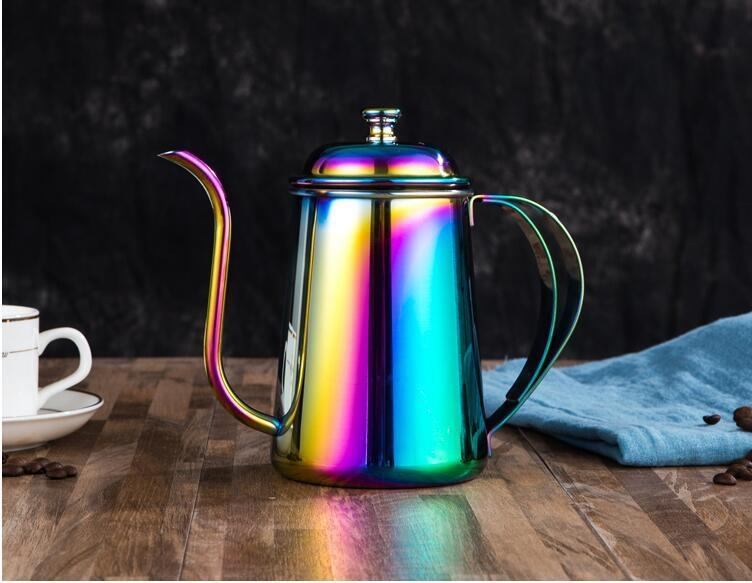 coffee long drip coffee extremely thin long mouth hand wash thin mouth pot 650ml304 stainless steel hand wash pot