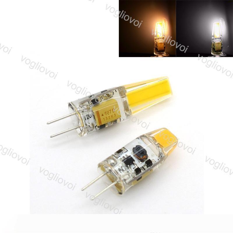 LED Işık COB G4 3W 6W DC12V Sıcak Beyaz Soğuk Beyaz Mısır Ampul Silikon Lambalar Kristal Avize Ev Işık EPACKET