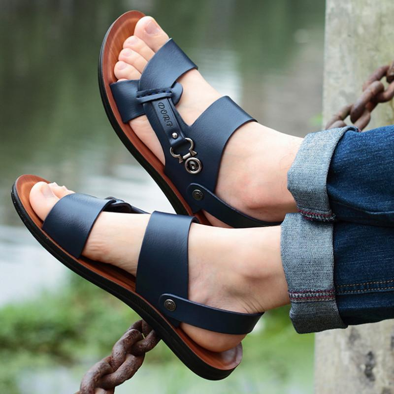 Sandálias Calçado MX200617 de 2020 Sapato Aberto à frente do Sandals Men New verão de Men Sandals Fashion Trend Praia Shoes Chinelos Homens
