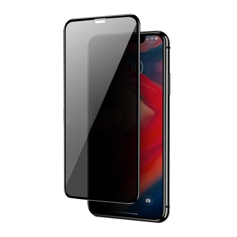 La protection des renseignements Film pour IPhone 11Pro Max / 11Pro / 11 / XS Max X / XS Filtre de confidentialité Protections d'écran Plein écran de protection en verre trempé
