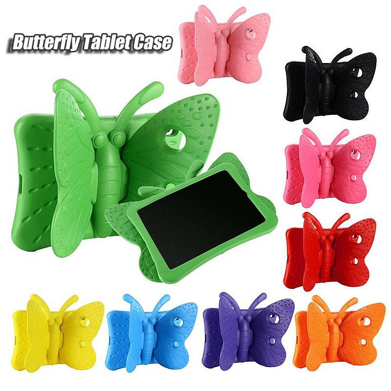 3D Butterfly Stand Cartoon EVA Shockproof Tablet case for iPad 2/3/4 Air mini Pro 9.7 inch Cute Kids Cover holder