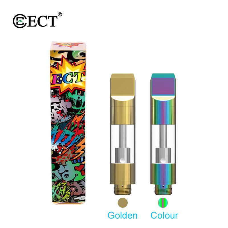 Best 100% Original glass ceramic vape cartridge 4*intake hole atomizer 510 vaporizer cartridge .5ml 1ml thick oil tank with vape packaging