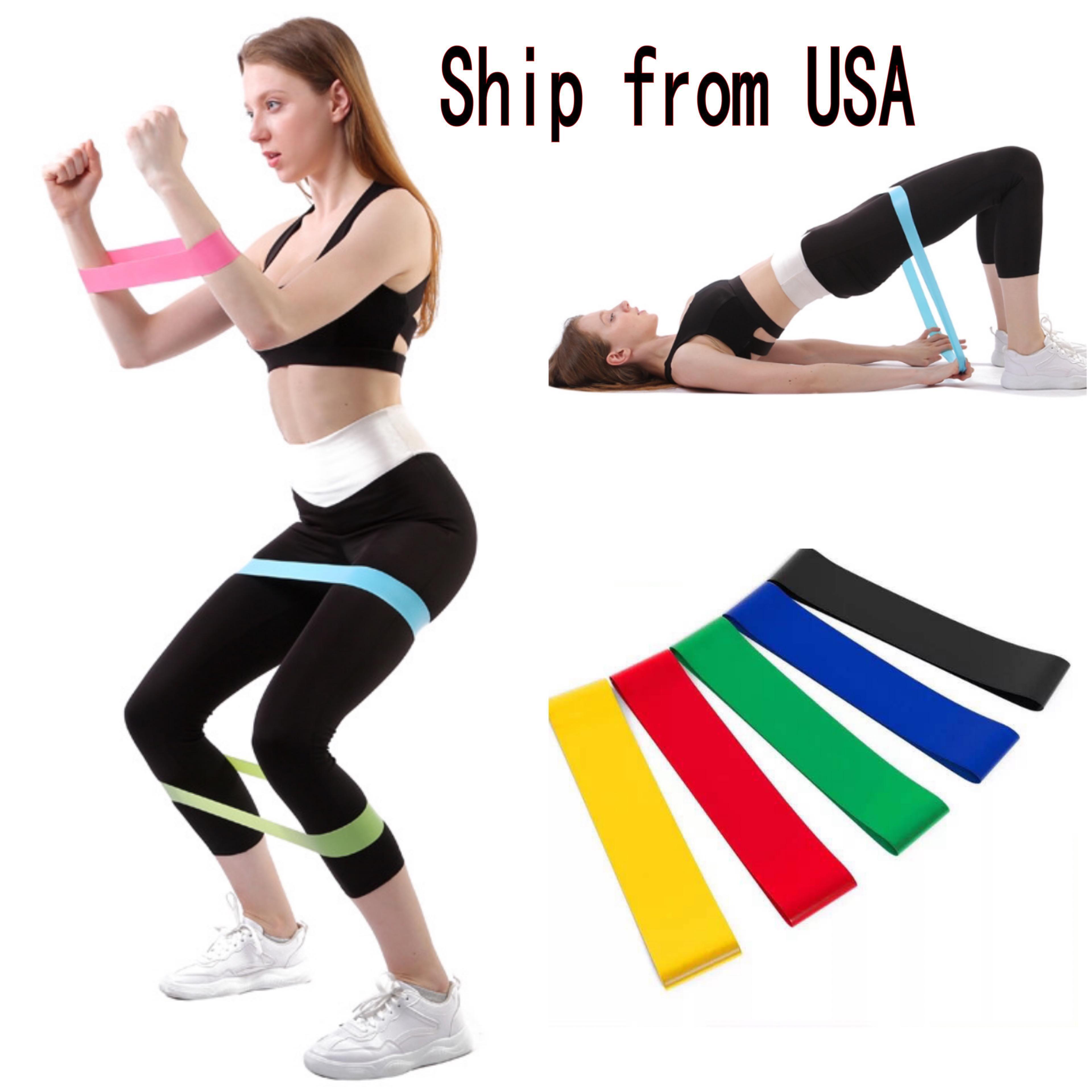 DHL Schiff 5pcs / lot Bänder eingestellt Pull Rope Levels Latex Stärke Fitness Trainingsgeräte Gummi Bodybuilding Training Band FY7008