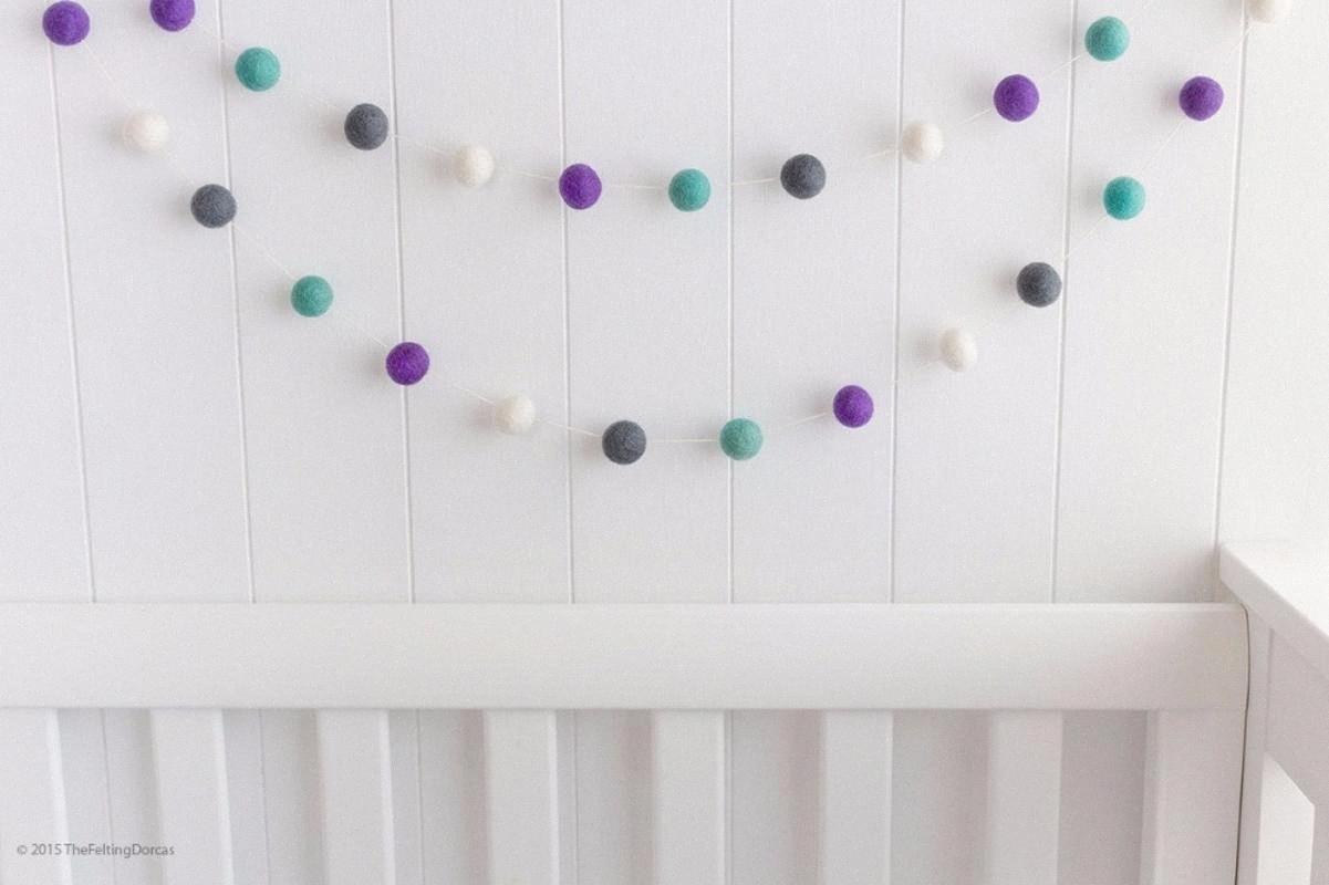 2M Handmade Macaron bola colorida decoração com bolas bebê Tent quarto frisada de madeira pingente Decor Wall Hanging K0113 TSHB #