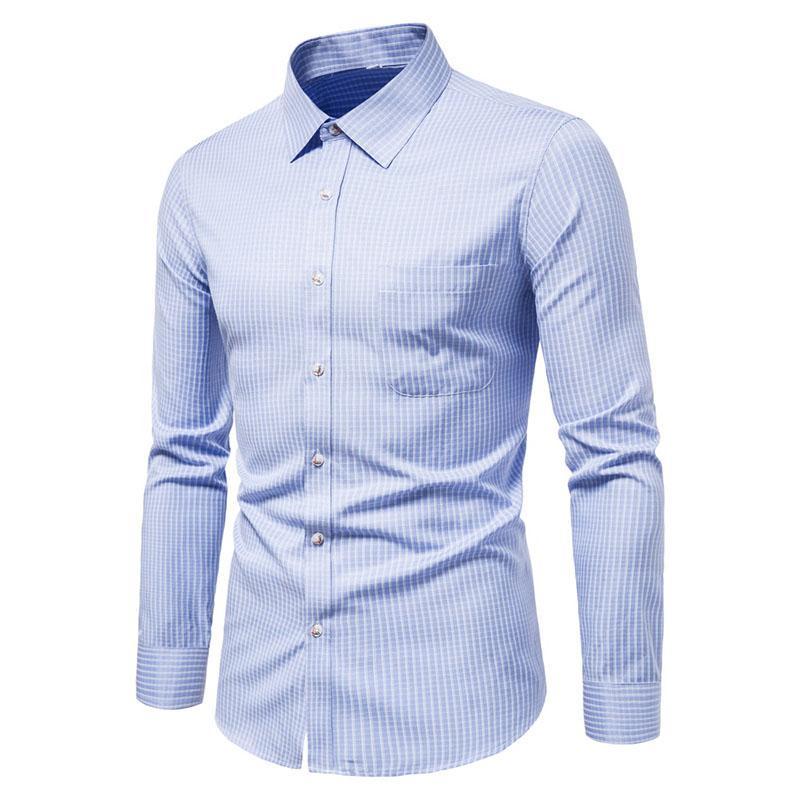 الرجال اللباس قمصان szmxss للرجال عارضة ضئيلة صالح منقوشة الاجتماعية طويلة الأكمام الملابس التجارية العلامة التجارية الذكور كلاسيكي زر قمم