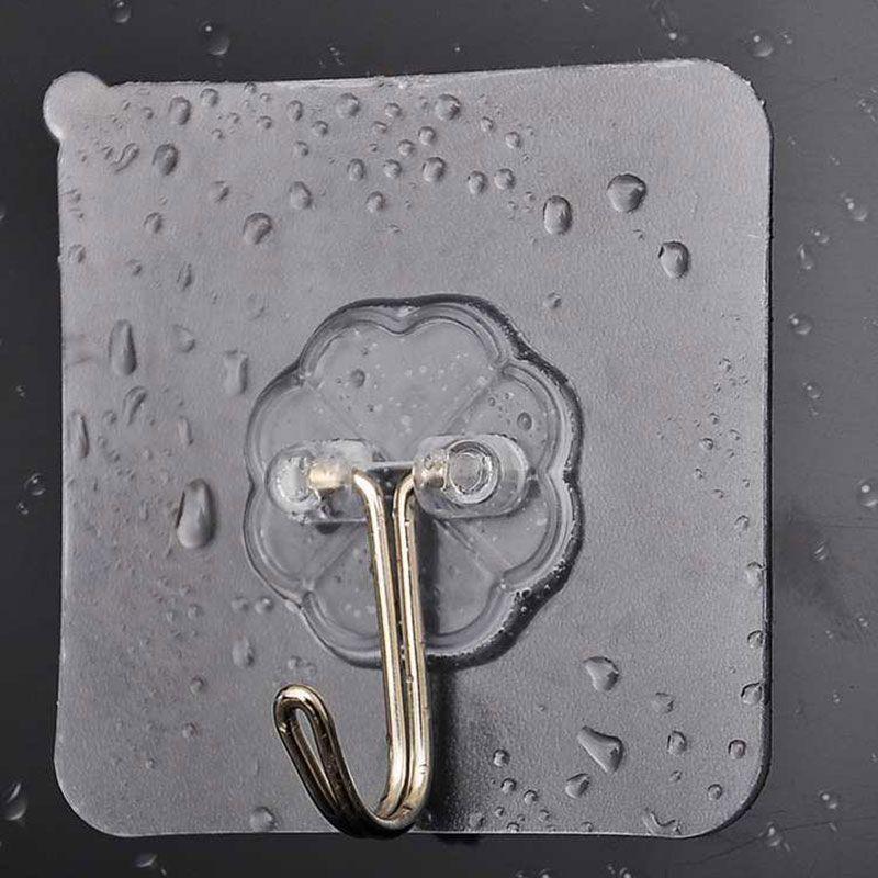 Universal-Strong-Wand-Haken-Aufhänger Wasserdicht Kleber Sucker Haken für Badezimmer Büro Küche und Wohnkultur Zubehör 5 Stück