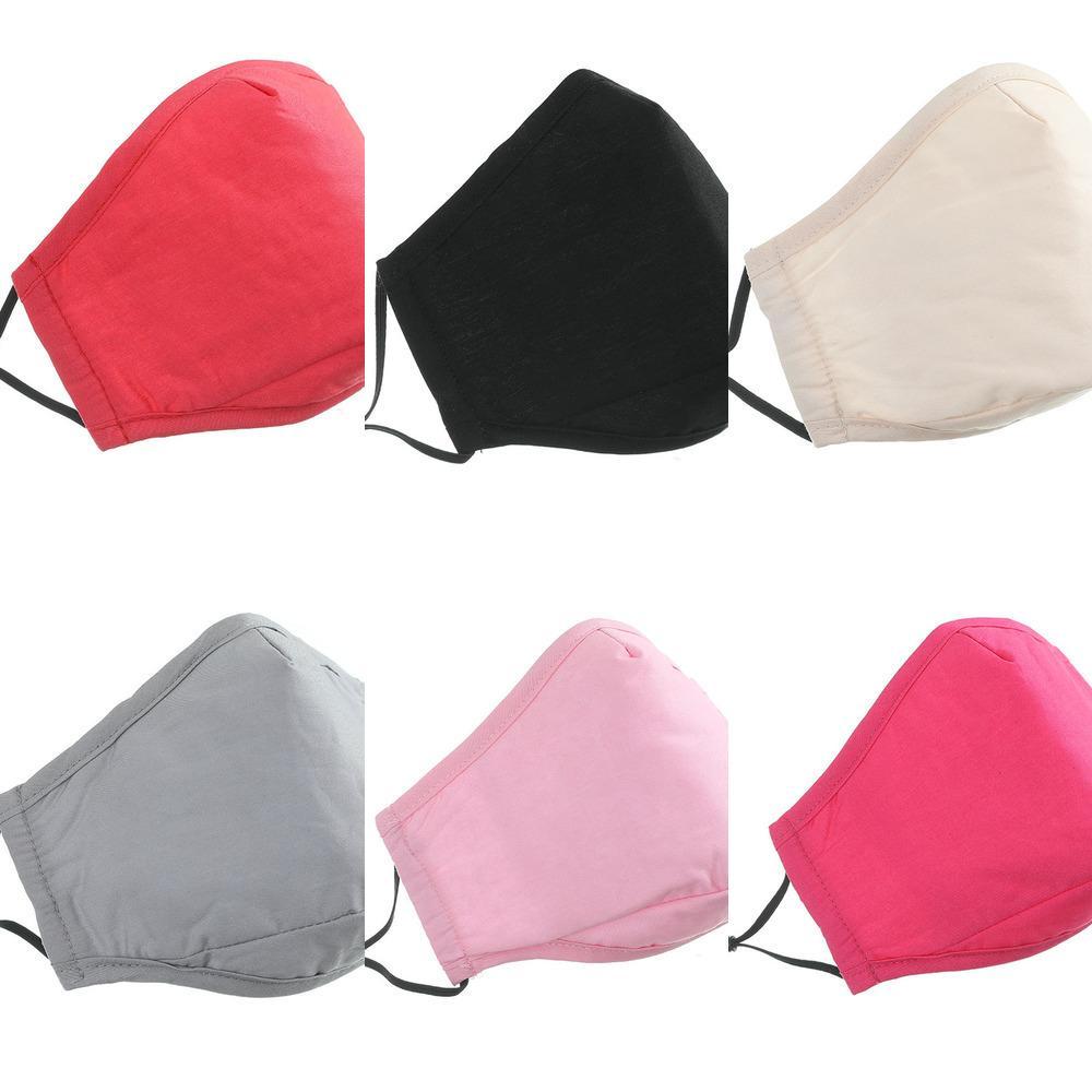 Máscara de algodón PM2.5 polvo de la cara máscara máscaras lavable boca por Estudiante edad Mujeres reutilizable OEDV