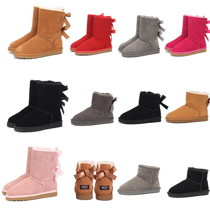2020 chaussure pour femme australian neige chaussures plate-forme haute cheville genou en cuir hiver filles de luxe taille womans dames entraîneurs d'espadrilles eur 41