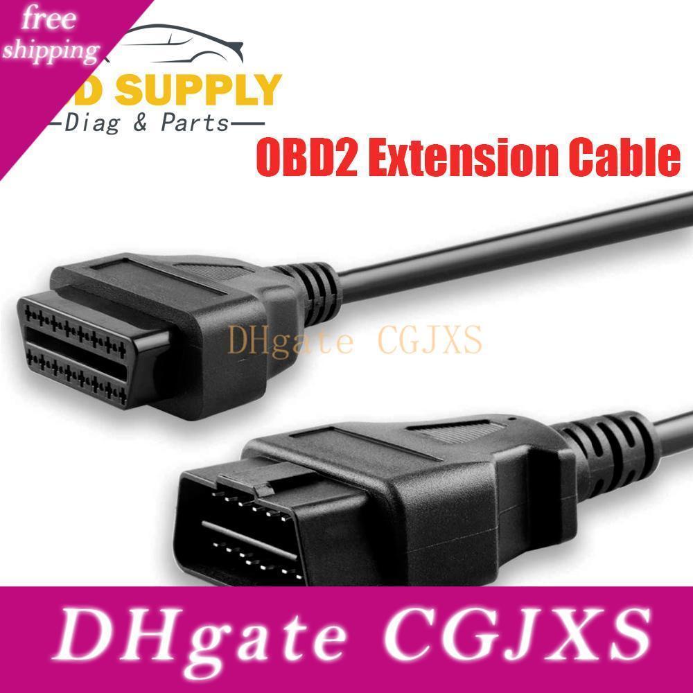 Оптовая 5pcs OBD диагностический 16pin Obdii кабель адаптера Передача Соединитель Obd2 16pin Кабели Диагностические разъемы и