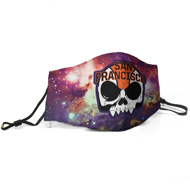 Женщины Мужчина маска пыль маски муфельного Звездный-небо-э-бейсбол череп напечатана с регулируемой Ear Hook Mas-
