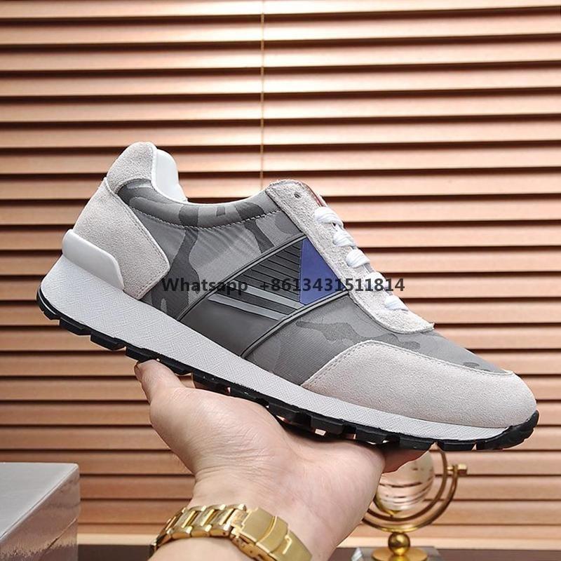 Tela técnica zapatillas de deporte zapatos para hombre de la entrega rápida de alta calidad Footwears cordón cómodo -Up ocasionales de los hombres Zapatos Zapatos Pour Homm