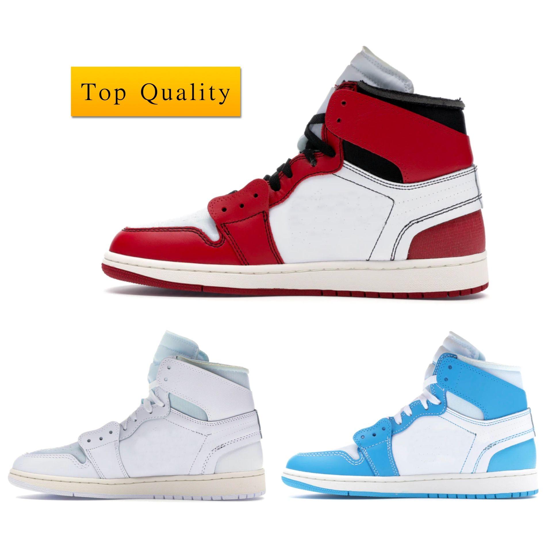 Air Jordan 1 Retro High University Blue 85 Chicago Basketball Shoes نساء أعلى جودة فاخر مصمم حذاء رياضة رجل عرضي جامعة أوف وايت بلو شيكاغو 85