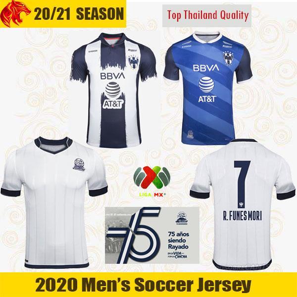 2021 CF Monterrey Soccer Jerseys FUNES MORI 2020 Rayados 75 Years Anniversary Kit SANCHEZ JANSSEN LAYUN Football Shirt