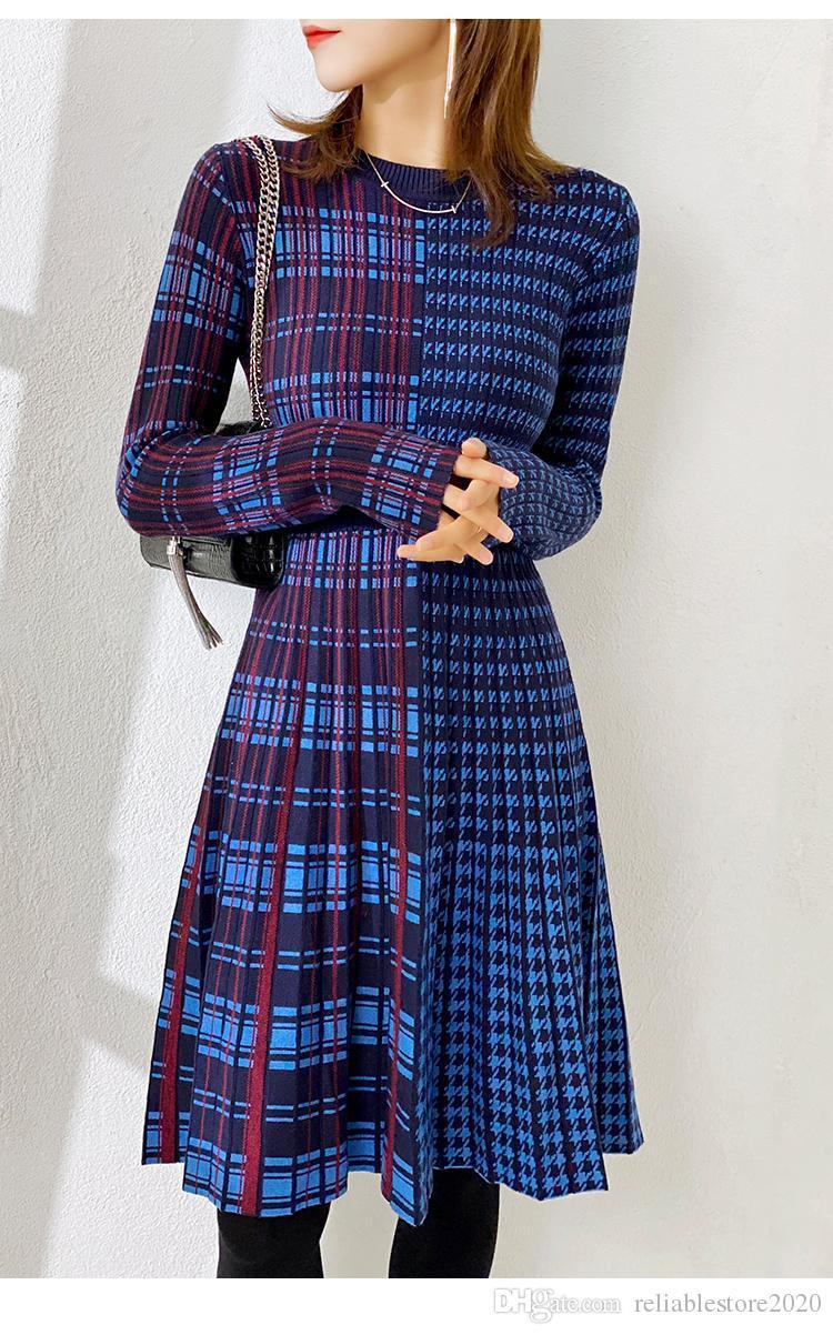 2020 NOUVEAU HIVER Robe de vent Chilly High Senseur Français Premier Amour Orange Stette Jupe Jupe De Fairy Rich Femme Jupe de pull à tricoter