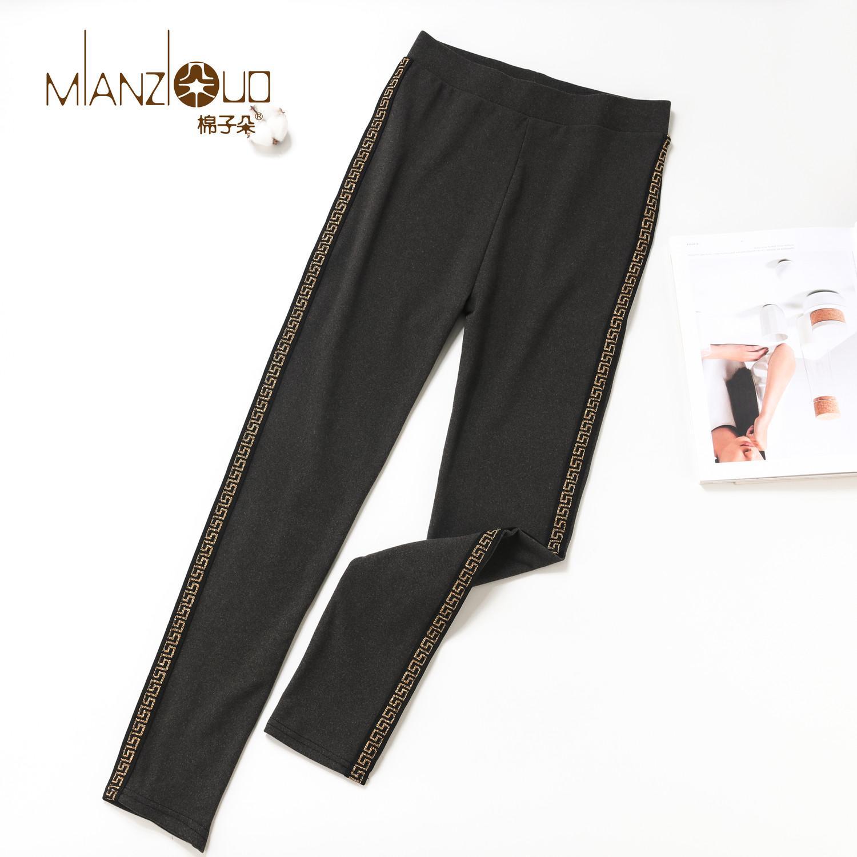 Velvet Pantalones otoño invierno de alta elasticidad y la buena calidad de gruesas Mianziduo 2019 nuevas mujeres de la MANERA calienta polainas CX200720