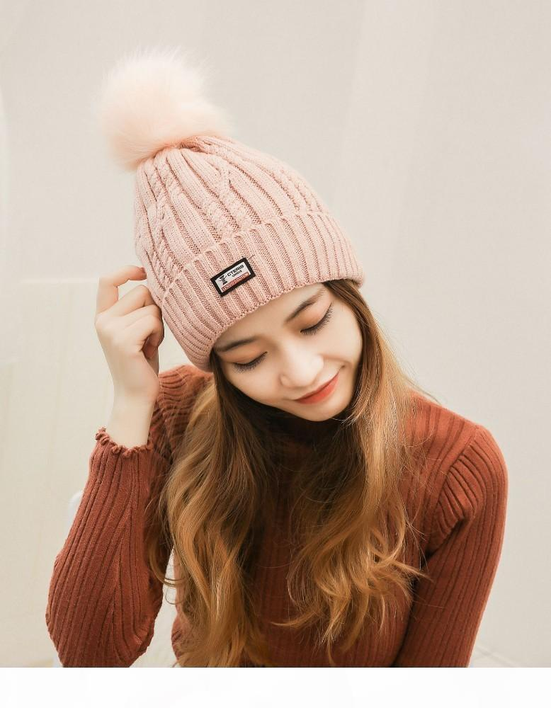 J Newwomen Chapeau d'hiver écharpe de mode d'hiver Chapeau Femmes Coton Femme Hiver Couleur unie Chapeau et écharpe C18120301