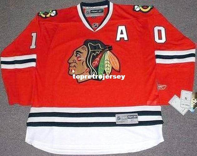 Mens al por mayor Patrick Sharp Chicago Blackhawks Inicio barato Hockey Jersey Retro