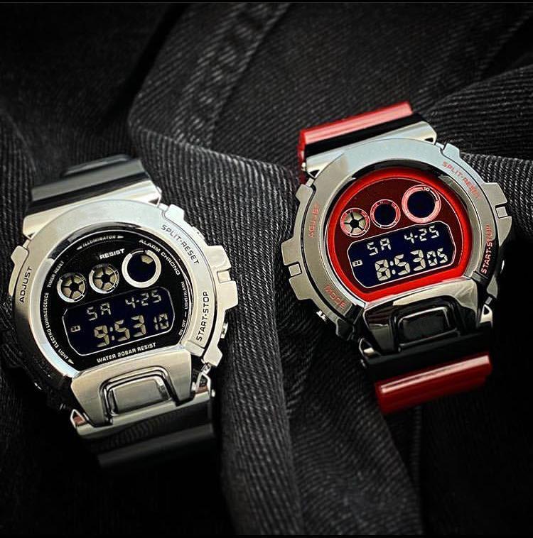 Neuer Mens Sport Shock Uhren Automatik G Stil Uhr 6900 wasserdichte Thermometer Armbanduhr für Mann reloj de lujo Hintergrundbeleuchtung Uhr Dropship