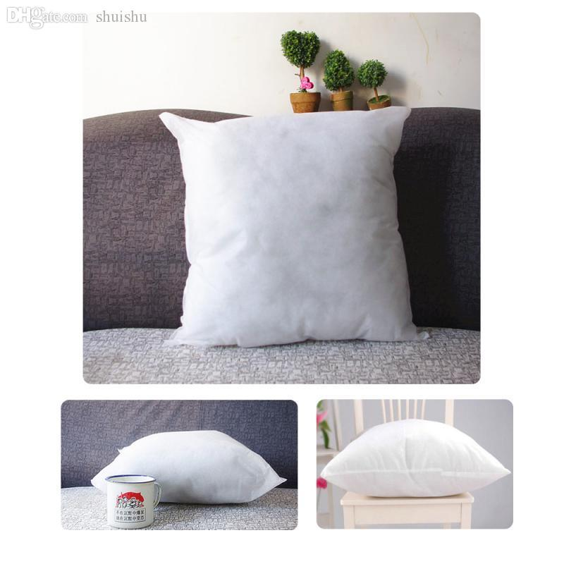 Wholesale-40X40 cm Throw Pillow Inner PP Cotton filler very soft Pillows Core pillow interior cushion filling Vacuum packing free shipping