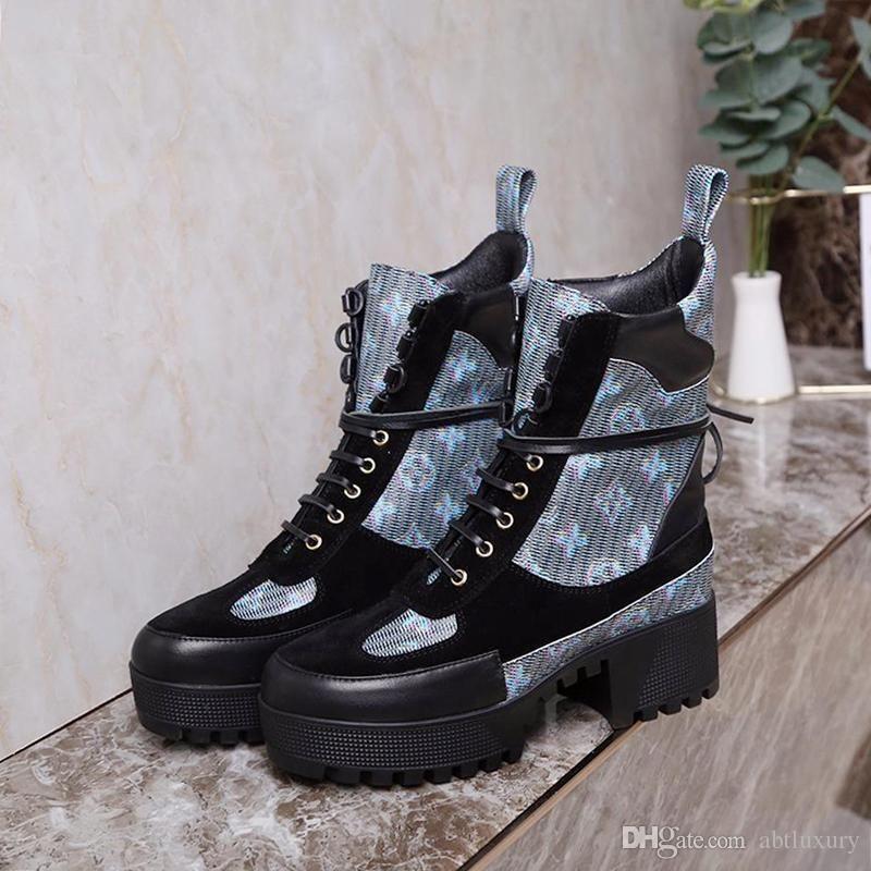 Frauen Schuhe Winter Laureate Plattform Desert Boot Chaussures De Femme Luxury Damen Schuhe Weinlese-L78 Bottes Femmes Mit Origin Box Booties