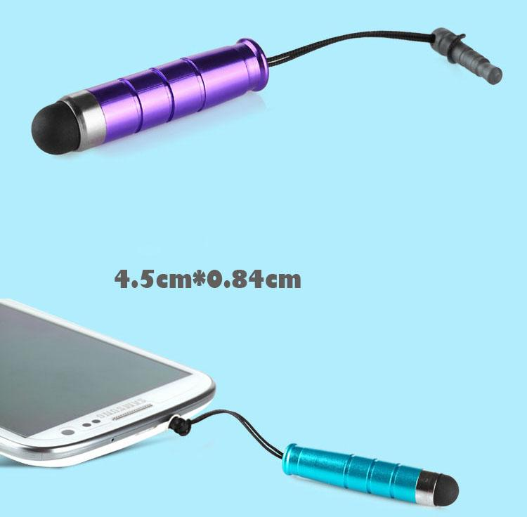 1000pcs/lot Promotion Mini Stylus Touch Pen Capacitive touch pen with dust plug for mobile phone tablet pc cheap price