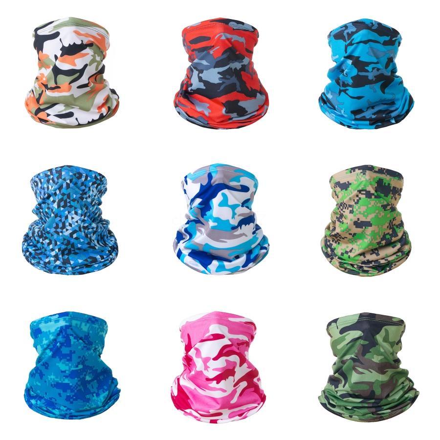JKgUZ femmes Masque Scarf Masque magique Spots de camouflage Protection contre le soleil Szalik Komin Magic Face écharpe Hommes Bandanas coupe-vent # 705