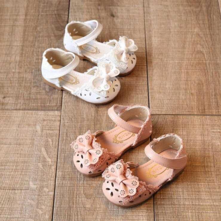 Новый младенческой Kid Ребенок Baby Girl принцесса мягкой подошвой сандалии выдалбливают Bowknot обувь Сандалии лето oYT1 #