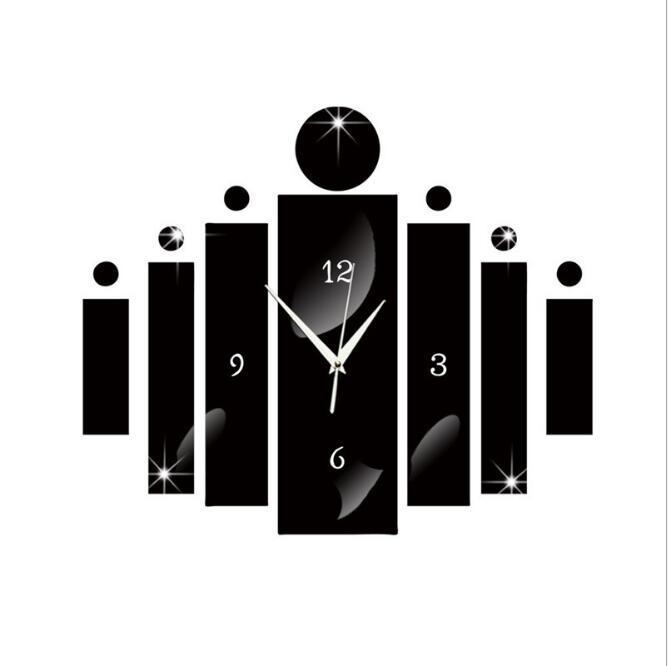 13-32cm Ayna Yüzey DIY Akrilik Duvar Sticker Sessiz Duvar Saati Çıkarılabilir su geçirmez duvar kağıtları Ev Dekor Ev Bahçe HA1025