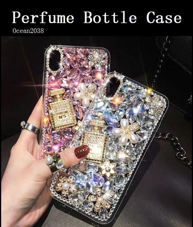 TOP 향수 병 전화 케이스 아이폰 (11) 프로 맥스 다이아몬드 블링 보호 쉘 삼성 갤럭시 S10 S20