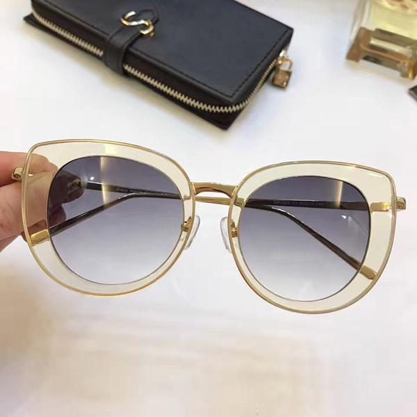 1008 forma el marco de gafas de sol de mujer de marca Deisnger completa del ojo de gato Diseño de la mariposa de la lente UV400 del estilo del verano Adumbral mezclada del color vienen con el caso